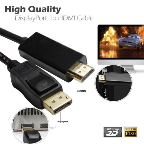 Display Port DP Male To HDMI Female Adapter Converter Cable For 1080P HDTV PC