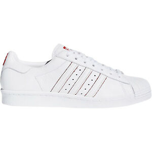 sneakers for cheap 8fa6b d0606 Details about adidas Originals Mens Superstar 80s CNY Low Rise Shell Toe  Trainers Shoes White