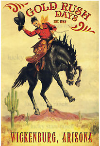 Wickenburg-Arizona-Gold-Rush-Days-VINTAGE-RODEO-POSTER