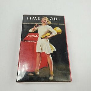 Vintage Coca-Cola Playing Cards Time Out Classic Cheerleader Advertising New