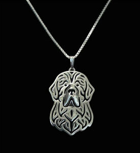 Newfoundland-Silver-Charm-Pendant-Necklace-Dog-Lover-Friend-Gift
