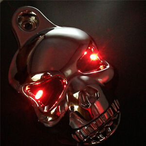 Chrome Led Skull Horn Carburetor Cover For Harley Davidson Softail Dyna Sportster Glide Big Twin Electra Fixing Prices According To Quality Of Products Frames & Fittings Covers & Ornamental Mouldings