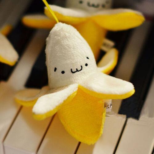 2pcs Pendants Doll 7cm Cute Stuffed Plush TOY Banana Style Straps