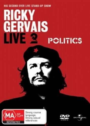 1 of 1 - RICKY GERVAIS LIVE 2 POLITICS DVD=REGION 4 AUSTRALIAN RELEASE=NEW AND SEALED