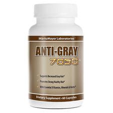 1 Pack Anti Gray Hair 7050 Saw Palmetto Catalase Horsetail Fuller Thicker Hair
