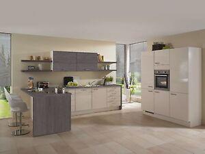 nobilia k che flash magnolia hochglanz ebay. Black Bedroom Furniture Sets. Home Design Ideas
