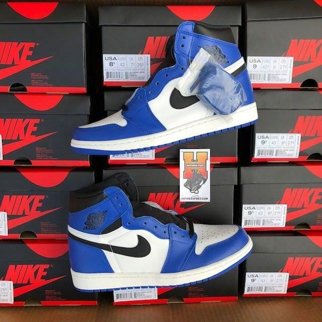 2018 Nike Air Jordan Retro 1 High OG Game Royal Blue 555088 403 lot Sz: 4y-13 The latest discount shoes for men and women