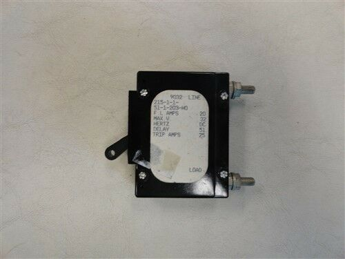 20AMP Airpax Boat Circuit Breaker Switch 0220