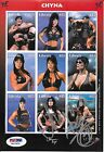 Chyna Signed WWE WWF Original 2000 Uncut Liberia Postage Stamp Sheet PSA/DNA COA