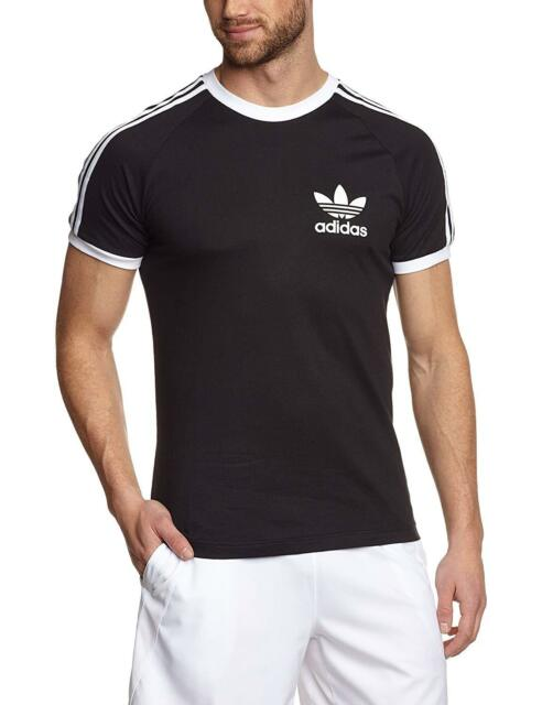 ADIDAS Da Uomo T Shirt originals California Manica Corta Top Small Medium Large XL