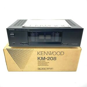 Vintage-Kenwood-KM-208-Stereo-Power-Amplifier-Amp-Tested-amp-Working-w-Box