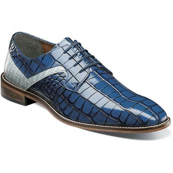 Stacy Adams Hombre Zapatos Triolo Dedo Pie Normal Oxford Azul MultiColor