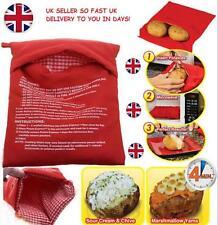 Baked Potato Jacket Potato Microwave Cooking Bag 4 Minutes Express Reusable