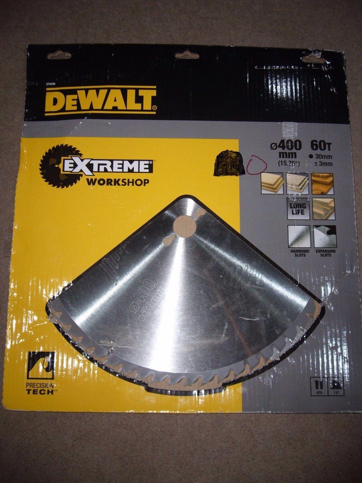 NEW DEWALT DT4338 - Circular Saw Blade 400 x 30mm x 60T