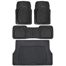 Motor Trend Deep Dish Car Rubber Floor Mats Cargo Set Black Premium Interior Fits 2012 Toyota Corolla