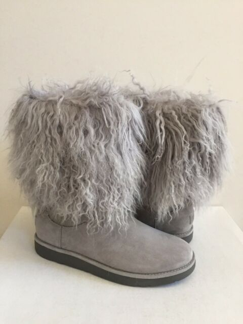 3d7e0d4802f UGG Lida Classic Short Mongolian Cuff BOOTS US 10 Gray RARE Hard to Find
