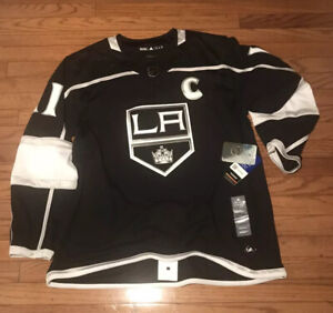 Details about Adidas LA King's Authentic Jersey NHL Anze Kopitar Black sz 46 Small With Strap