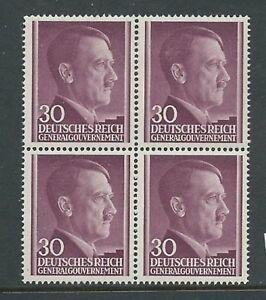 Neuf Sans Charnière Stamp Block/adolph Hitler/30 G/1941/occupied Poland/troisième Reich-afficher Le Titre D'origine