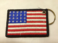 US Amercian Flag Machine Embroidery Key ring Embroidered Patch Keys Chain Ring