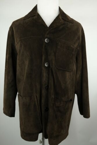 Coach Suede Leather Jacket Coat Men Size Small Mad