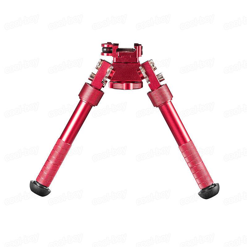 Red color Shooting QD 4.75 - 9 inch Bipod Adjustable Bipod Fits 20mm Rail Mount