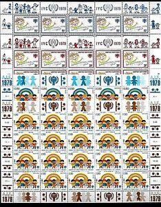 AU38 U.N. (10) Complete Sheets M.N.H Scott # N.Y. 310-311, Geneva #84-85