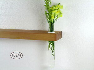 Mini-Wandregal-Reagenzglas-Vase-Buche-40cm-Wandvase-Regal-Wandboard-Board