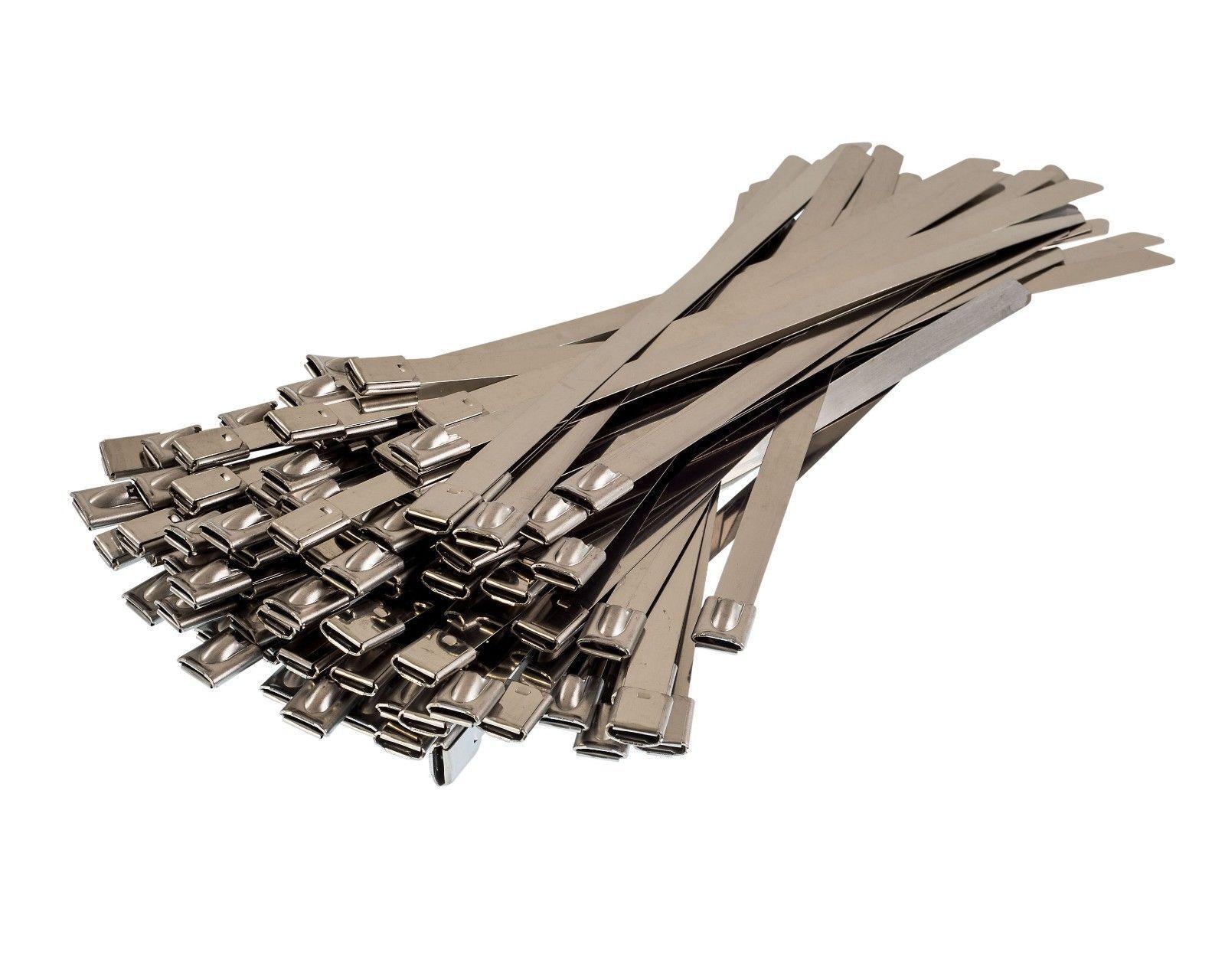 CT300SSW Stainless Steel 100 Cable Tie 300X7.6mm Metal Zip Wraps 316 Grade Ties