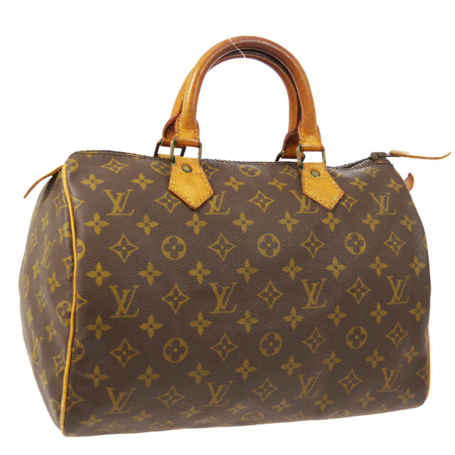 LOUIS VUITTON SPEEDY 30 HAND BAG AUTHENTIC SA MONOGRAM VINTAGE M41526 A51731