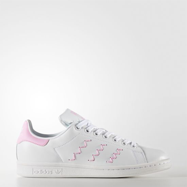 premium selection ed8f9 24205 New Adidas Original Womens Stan Smith Zig Zag BZ0401 WHITE/PINK US W 5 - 8  TAKSE