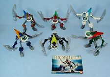 Lego Bionicle Metru Nui VAHKI (8614 - 8619) Set of 6 with Glow in the Dark Disks