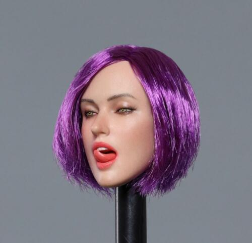 """1//6 Female Head Sculpt with Tongue For 12/"""" Hot Toys PHICEN Figure GC021 ☆USA☆"""