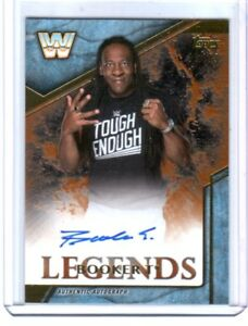 WWE-Booker-T-2017-Topps-Legends-Bronze-Authentic-Autograph-Card-SN-9-of-99