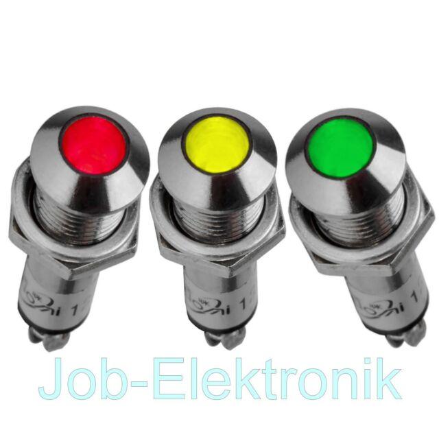 Signallampe Signalleuchte Kontrollleuchte Leuchtmelder 12V 230V  8mm konvex