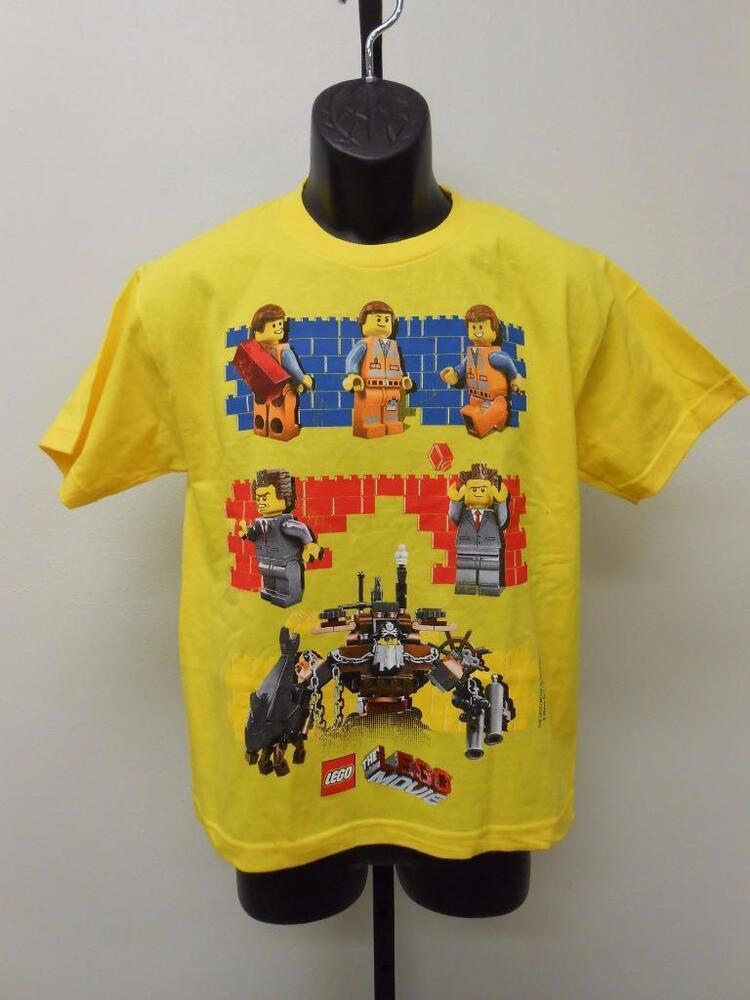 AgréAble Neuf Lego Movie Jeunesse L Grande Taille Chemise Renforcement Des Nerfs Et Des Os