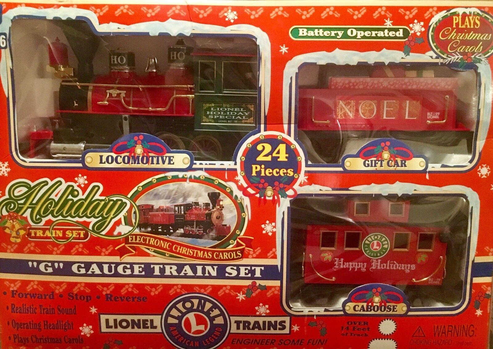 Lionel  G  calibre 24 Pc Conjunto de tren de vacaciones 62134