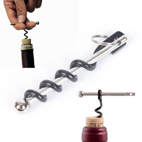 Outdoor EDC Red Wine Bottle Opener Keyring Tool Camping Survival Equipment To JM