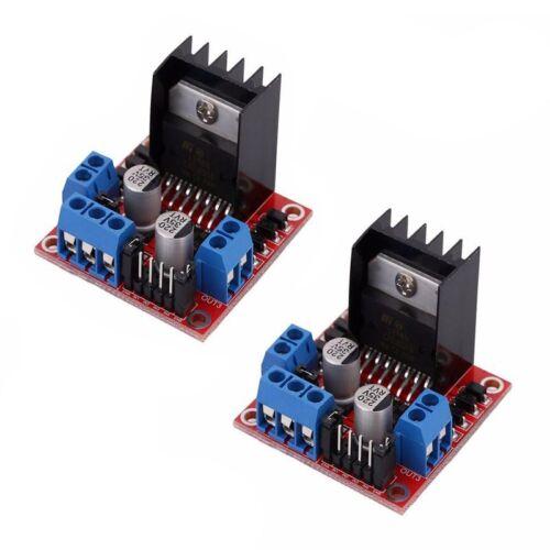 2X L298N DC axes Pas à Pas Moteur Driver Module H Pont Control Board pour Arduino S1Q4