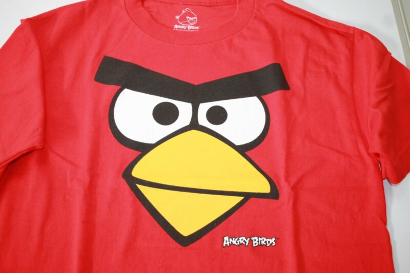 Angry Birds Face T-shirt Childrens Size 14/ 16 New
