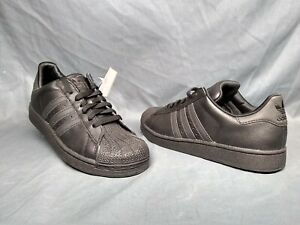 Details about Adidas Superstar 2 J Casual Sneakers Leather Grade School Boys Black 6 NWOB!