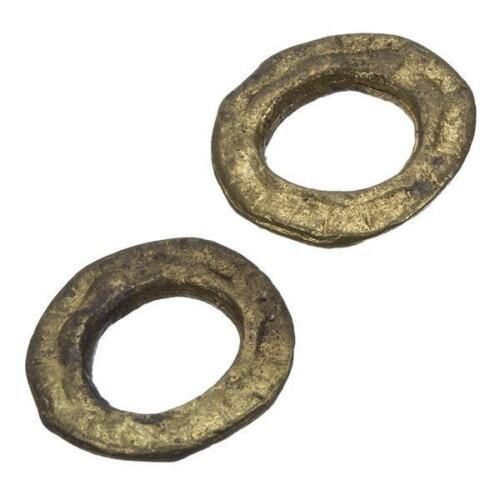 C84//19 Flat Donut Antique Gold Ring Link Connector 23mm Pack of 2