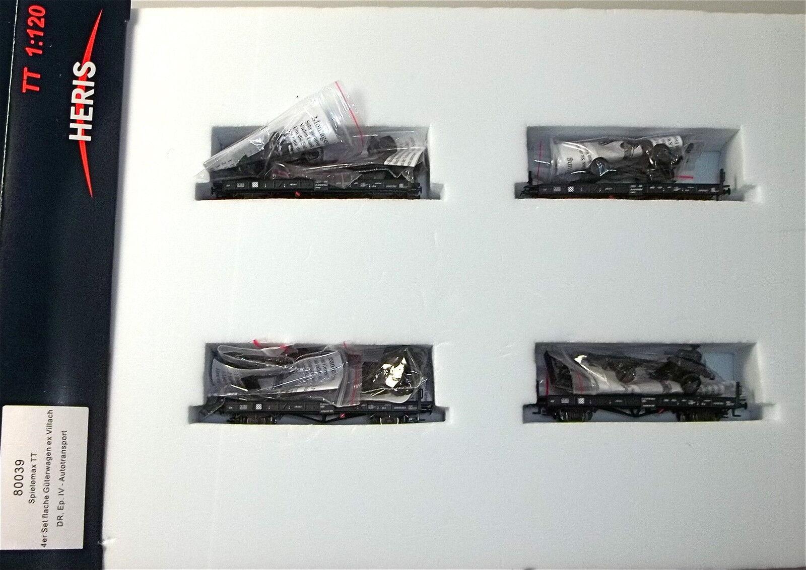 4tlg Set piatto carrello ex Villach M CAMION chassis DR ep4 HERIS 80039 TT 1:120 hl6 Å *