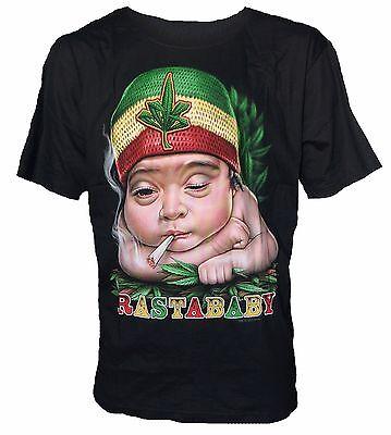 NEU,Herren T-Shirt,Baumwolle mit Siebdruck Motiv Rastababy 3 D Biker Trucker NEW