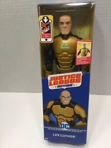 "JUSTICE LEAGUE ACTION LEX LUTHOR 12"" Figure Logo Glow In The Dark"