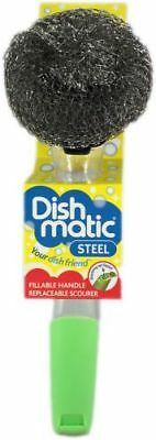 DISHMATIC STEEL SCOURER Clean BBQ Grill Pot Pan  1819-1