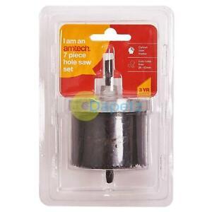 7Pc-Trou-Scie-Coupeur-Set-Rond-Circulaire-Perceuse-26-63mm-Carbone-Acier
