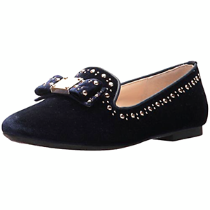 COLE HAAN Womens Tali Bow Stud Blue Velvet Loafer W09619 W09916 Sz 8 NIB
