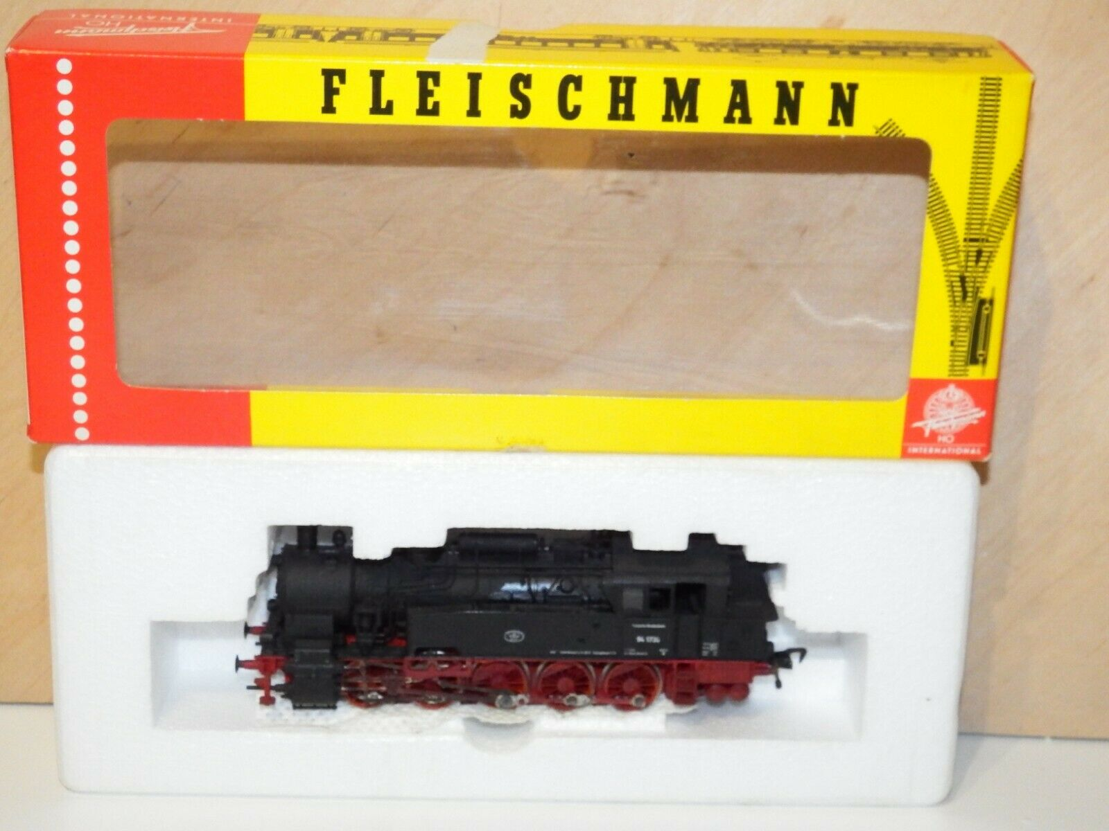 H0 fleischman 4094 dampflek DB BR 94 1730 gealter nicht ovp 8598