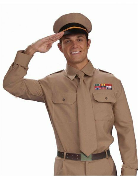 9955864570a Brown Black Military Officer Ww2 General Navy Marines Army Private Costume  Hat for sale online