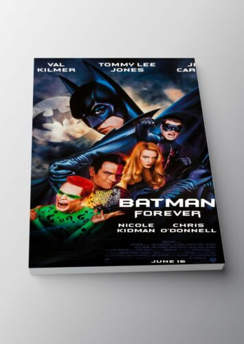 Batman Forever Classic Movie Poster Canvas Framed Art Print A3 A4 Sizes
